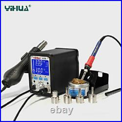 2-IN-1 YIHUA 995D Digital LCD SMD Rework Station Hot 480°C 720W +Soldering Iron