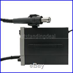 2 In 1 Soldering Rework Station Hot Air Gun with Soldering Iron 750W LED+3Nozzles