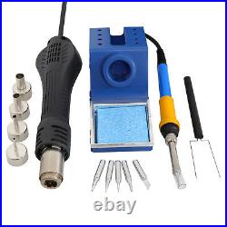 2in1 SMD Soldering Iron Hot Air Rework Station&Hot Air Gun with 4 Nozzles 700W