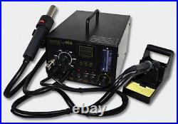 AOYUE Int968 SMD Rework Station Hot Air 550W Soldering Iron 35W Extraction