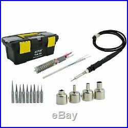 Complete Soldering Station Reworking Iron Hot Air Pre-heater 3 in 1 Aoyue 866