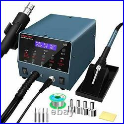 Durable 2 in 1 Hot Air Rework Station and Soldering Iron Station 800W with PID