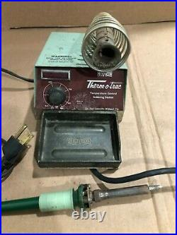 HexAcon 1002 Temperature Controlled Therm-O-Trac Solder Station Made In USA