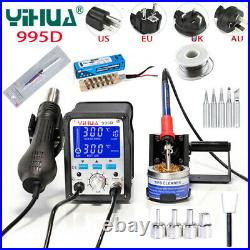 Hot Air Rework And Soldering Iron Station Large LCD Screen Display Cool Hot Con