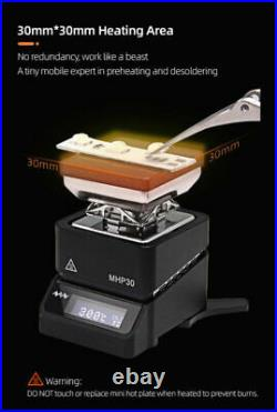 MHP30 Mini Hot Plate Preheater Soldering Iron Station Constant Heating Table