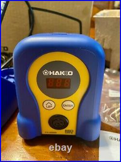 NEW Hakko FX888D-23BY Digital Soldering Iron with FX-8801 Tip Blue and Yellow