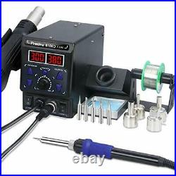Preciva 8786D I 2-in-1 Hot Air Gun Rework and Soldering Iron Station with