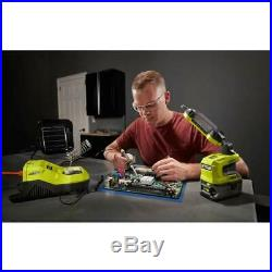 RYOBI 18V Portable Electric Corded/Cordless Soldering Iron Station with Holder Kit