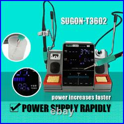 SUGON T3602 2 in 1 Soldering Iron Station Working both JBC C115 & C210 Tips
