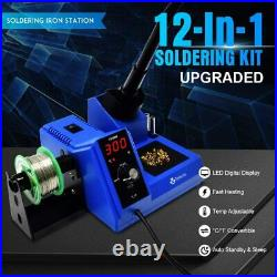 TOAUTO Soldering Station, 80W Digital Solder Iron Station Kit with 176°F-896°F Te