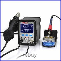 Uk-yihua 995d LCD Smd Hot Air Rework Station With Soldering Station New