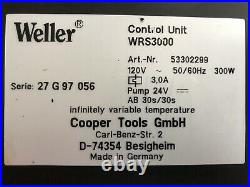 Weller WRS3000 Repair System Self-Contained 3 Station SMT (Read Description)