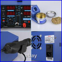 YIHUA 853D 2A Soldering Station Hot Air Gun Rework Solder Iron With 11pcs Tools