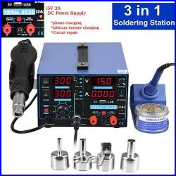 YIHUA 853D 2A USB SMD Hot Air Rework Soldering Iron Station, DC Power Supply 5V