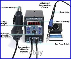 YIHUA 8786D I 2 in 1 Hot Air Rework and Soldering Iron Station with °F /°C