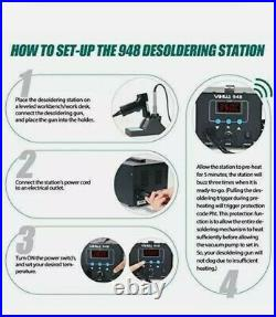 & YIHUA 948 ESD Safe 2 in 1 80W Desoldering Station and 60W Soldering Iron