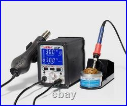 YIHUA 995D+ 2In1 Hot Air Rework And Soldering Iron Station With 3 Memories °F/°C