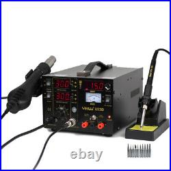 YiHua 853D Soldering Iron Station Hot Air Gun 750W 3 in 1 Soldering Station